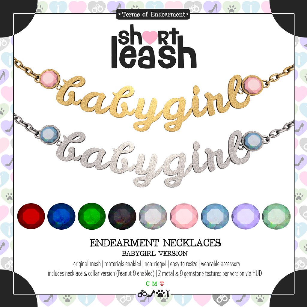 .:Short Leash:. Endearment Necklaces – Babygirl Version