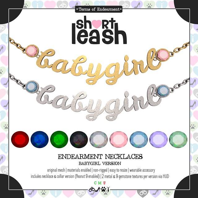 .:Short Leash:. Endearment Necklaces - Babygirl Version