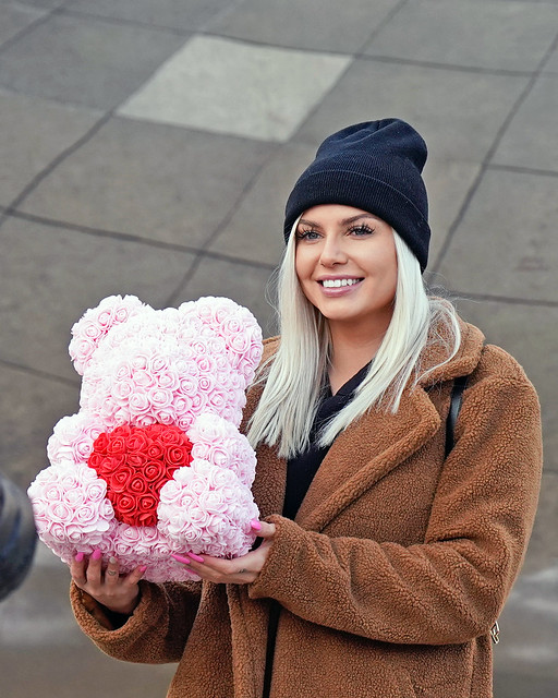 Blonde with Bear