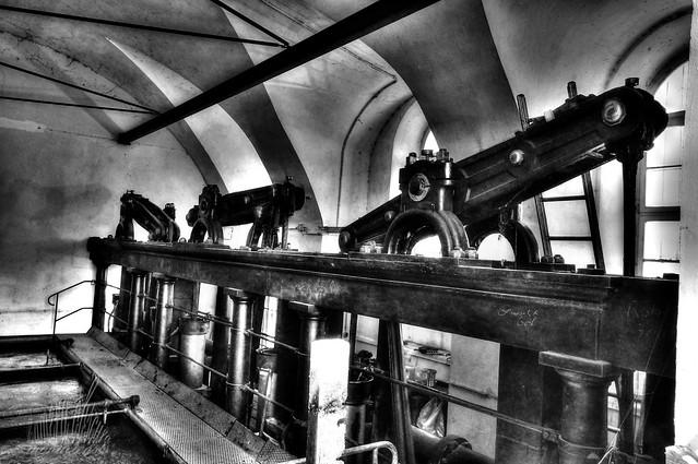Pumpwerk im Schloss Nymphenburg