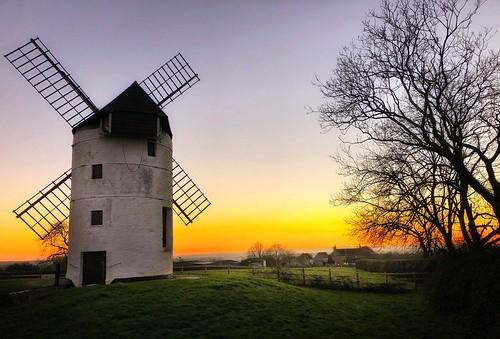 nikon landscape scenery history sky sunset england somerset somersetlevels ashtonwindmill windmill