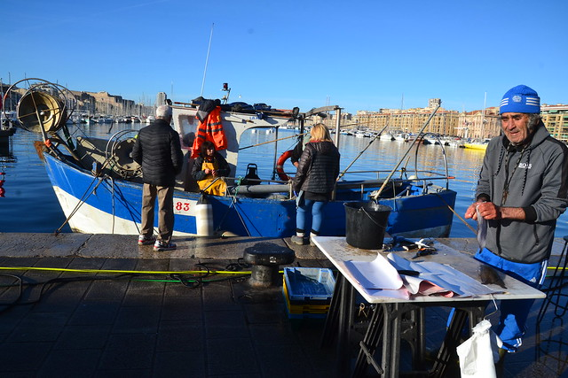 Pêcheurs sur le vieux port