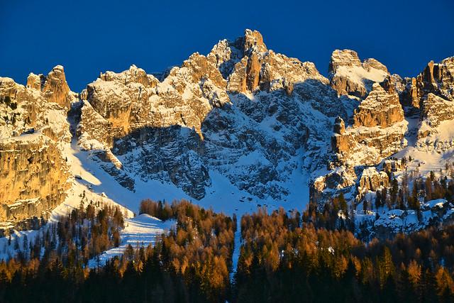Cima Cadin, Dolomites, in winter