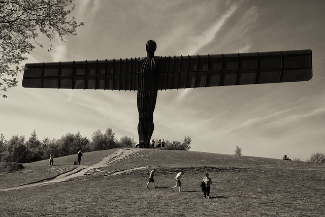 Northern England near Gateshead: Antony Gomleys sculpture