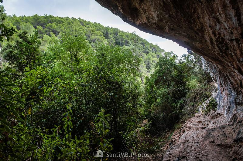 Dentro de la bauma de al lado del Foix