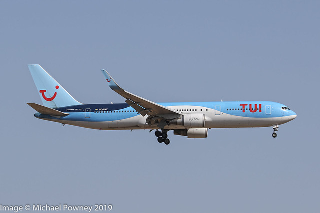 SE-RNC - 1998 build Boeing B767-304ER, on approach to Runway 06L at Palma