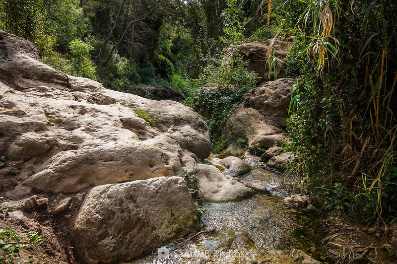 Paso de agua entre el Pèlag de les Valls y el Pèlag de la Font