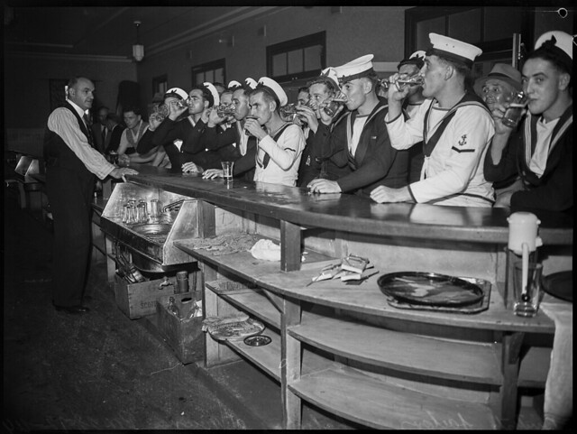 British sailors on holiday at Nowra, 28 December 1944, photographed by Ivan Ives