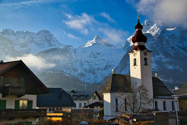 The mountain village of Lofer, Austria