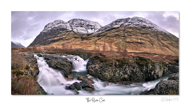 Glen Coe River framed