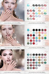 """Alme. for Belle. Events - """"Mesh Stiletto nails// Blueberry colors collection"""""""