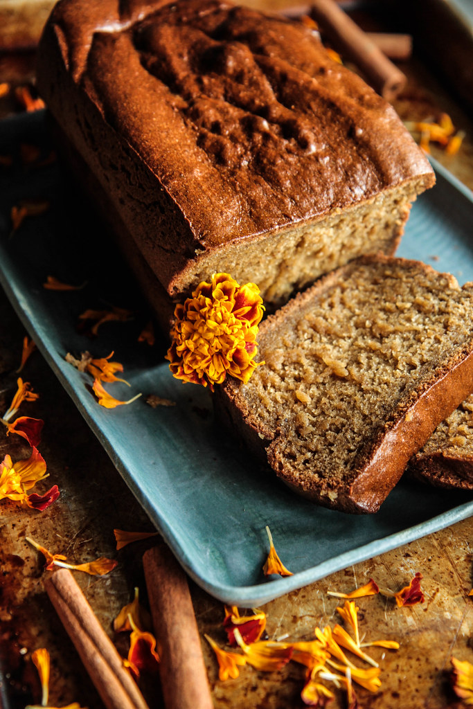Chai Spiced Banana Bread (Vegan and Gluten-free) from HeatherChristo.com