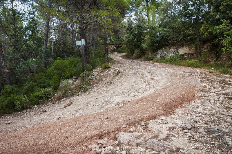Cruce con el Camí de Cal Rossell de les Bassegues a les Valls de Foix