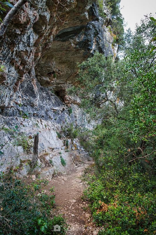 Llegando a la bauma junto al Foix