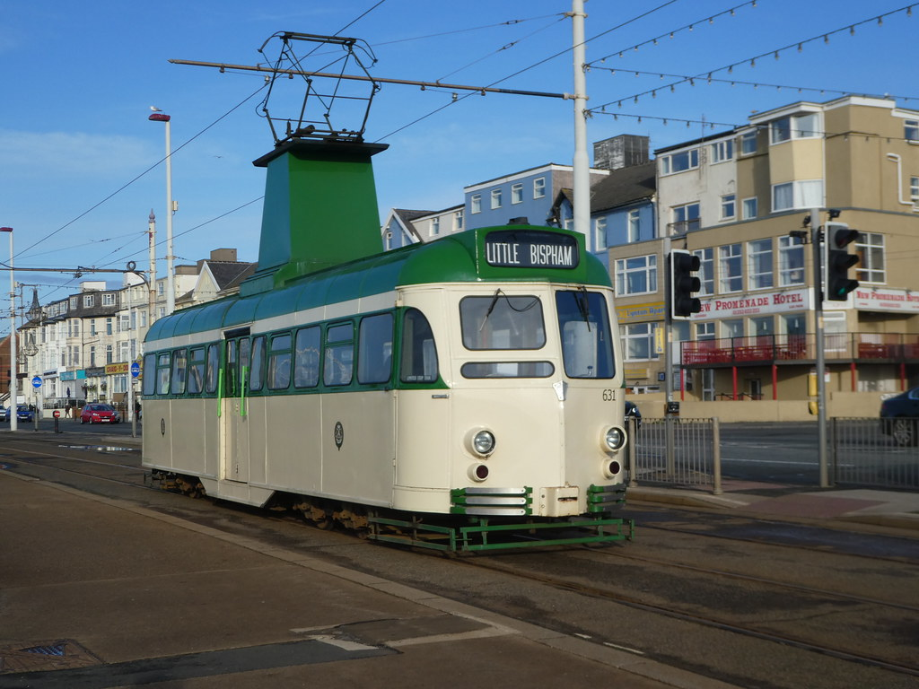 Heritage tram, Blackpool promenade