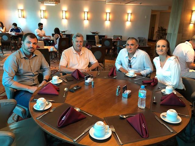 18/01/2020 Café da manhã com o prefeito Tiago Gorski, Cássio Bonotto e Juliana Bonotto em Porto Alegre
