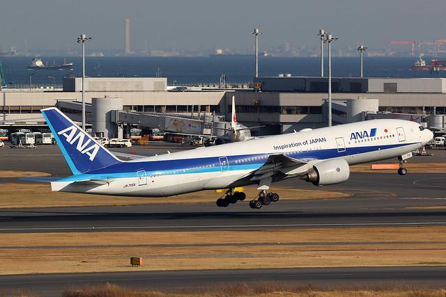 JA715A, Boeing 777-200ER, All Nippon Airlines, Tokyo Haneda