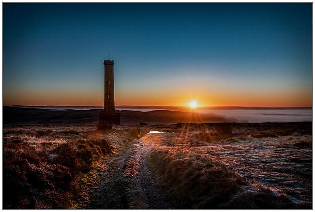 Frosty Sunrise on Holcombe Moor