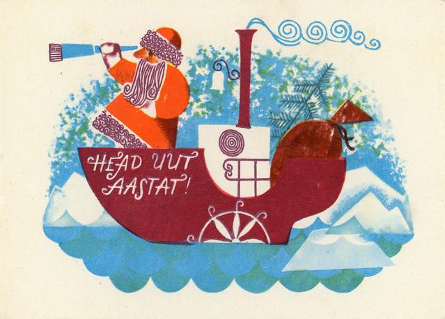 Happy New Year! (Santa Claus on Boat)