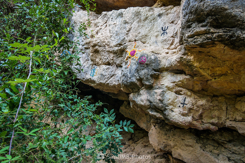 Pintadas en las rocas del Pèlag de la Font