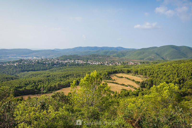 Vistas del Penedès desde el Tossal de Foix