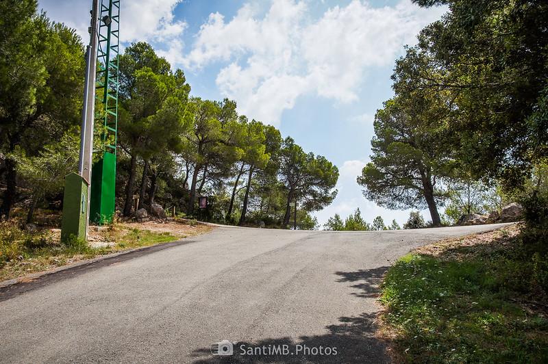 Llegando al aparcamiento del Santuari de Foix