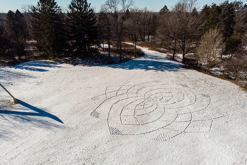 Richard Shilling and Julia Brooklyn, land art for the 10th Annual Winter Carnival