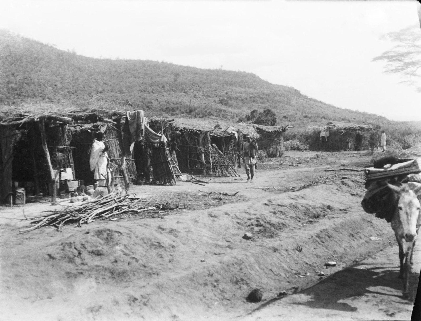 21. Сомалийская деревня между станциями железной дороги Логахардимом и Корой