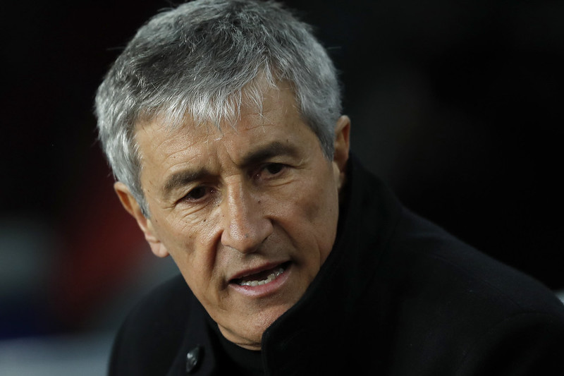 巴塞隆納新總教練Quique Setien。(達志影像)