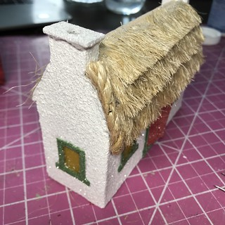 putz house thatched roof tutorial | by christmasnotebook