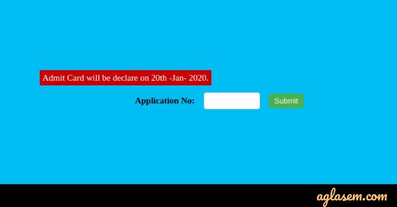 KLMEE 2020 Admit Card