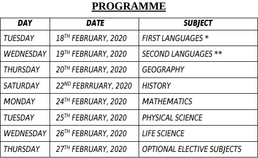 West Bengal Class 10 Exam Routine 2020