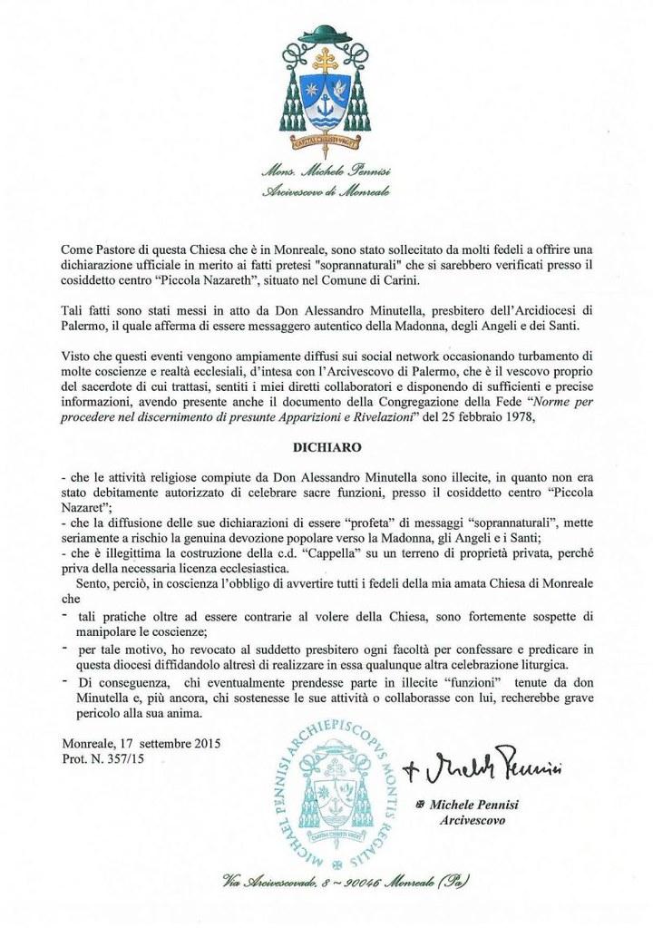 decreto minutella