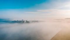 Kaunas old town | Foggy morning | Kaunas aerial
