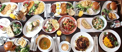 Full Table Food Spread