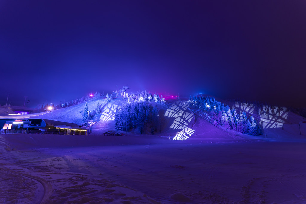 Ruka Slopes during the Polar Night Light Festival