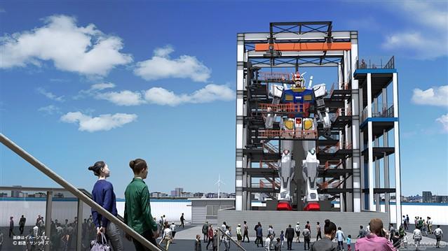 橫濱『GUNDAM FACTORY YOKOHAMA』會動的 18 公尺 RX-78-2 鋼彈新設計、週邊設施概念圖公開!