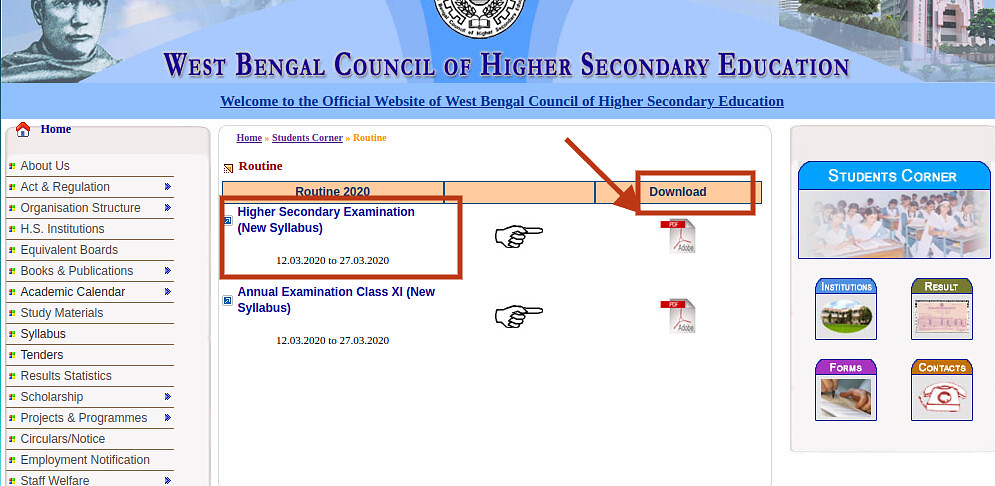 West Bengal Class 10 Exam Routine 2020 (Released!) | WB Madhyamik Exam Date