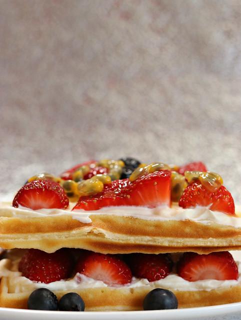 2020 Sydney: Homemade Waffles and Fruit