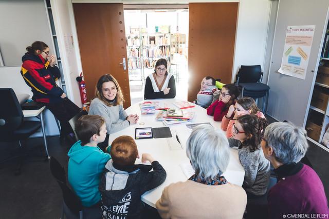 Résidence Chapitre 9 - Ateliers dans les bibliothèques de Liffré Cormier Communauté
