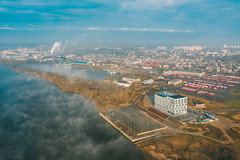Foggy morning | Kaunas aerial
