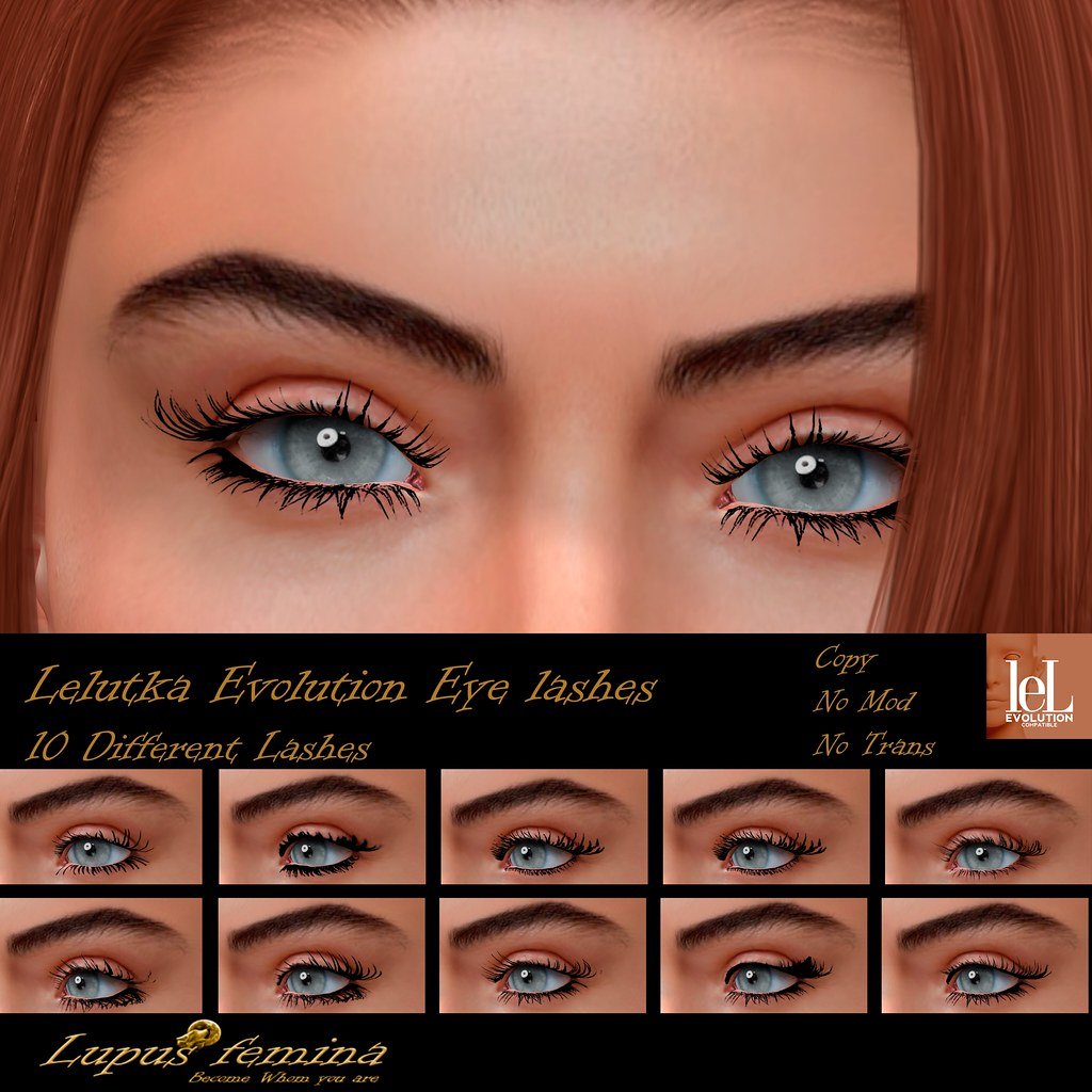 """Lupus Femina"" Lashes Lelutka Evolution"