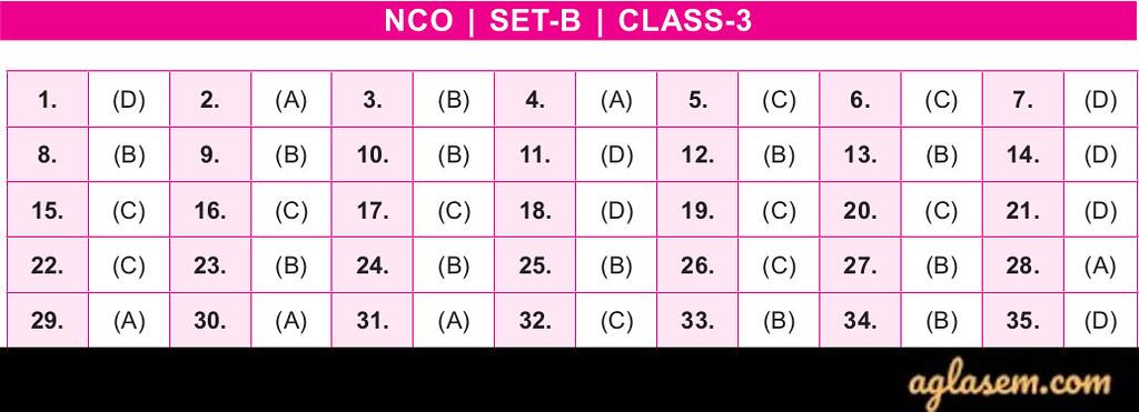 19th NCO 2019 - 2020 Answer Key - SET B