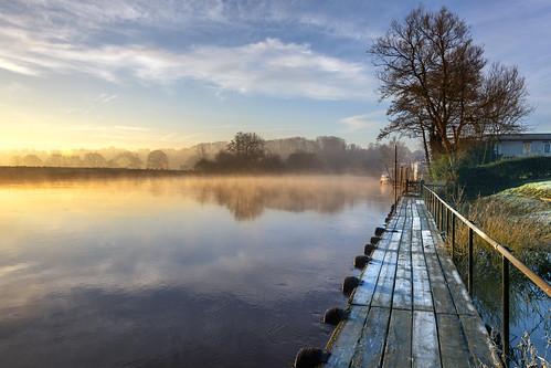 riversevern severnvalley morningmist mistoverriver landscape mist sunrise nature