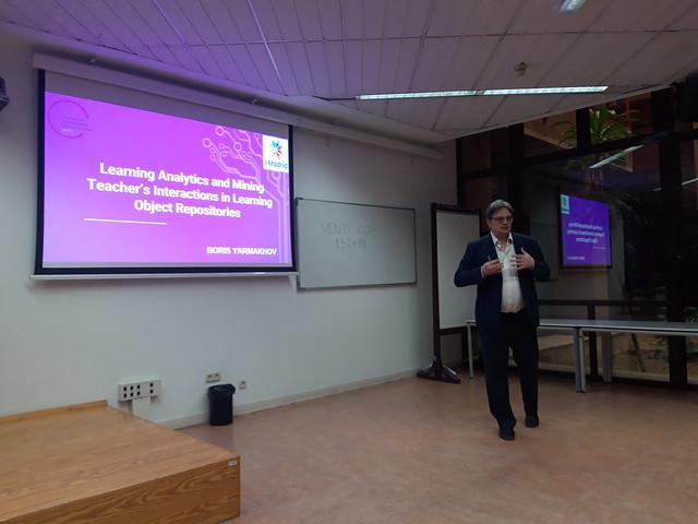 """13_12_2019 Seminario eMadrid sobre """"Analíticas de aprendizaje"""""""