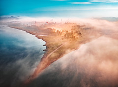 Confluence | Foggy morning | Kaunas aerial #19/365