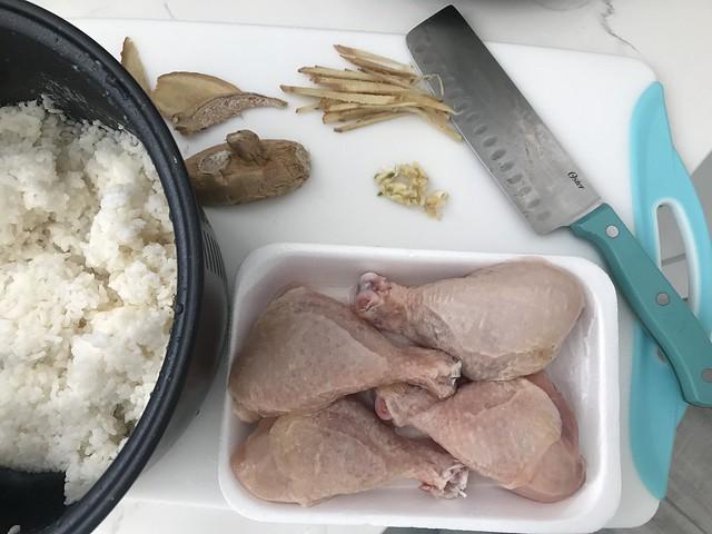 chicken, rice, ginger