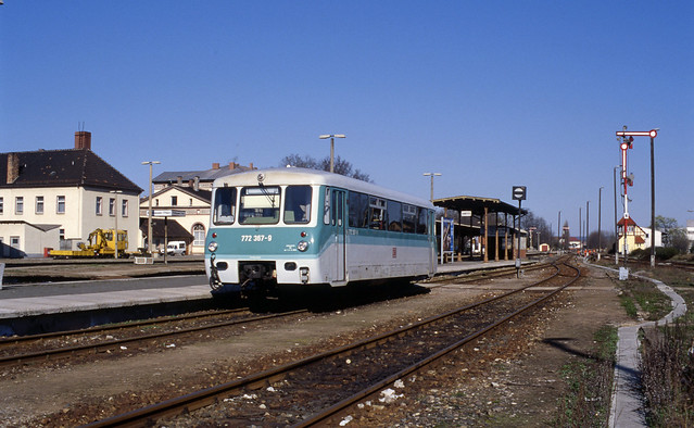 DB 772 367-9 in Mühlhausen (Thüringen) (D), 1997.