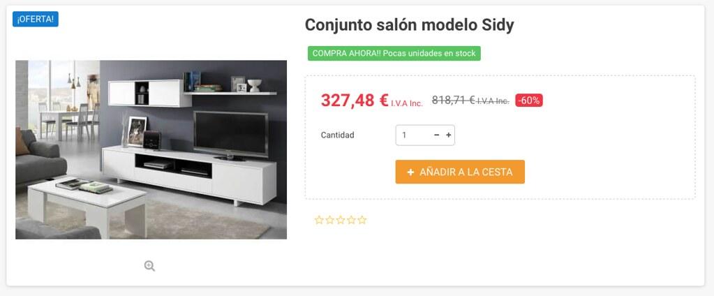 Mueble kit para salón