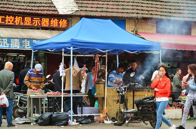 Shanghai - Street BBQ vendor